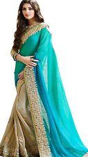 Indio paquistaní de Bollywood Diseñador Saree étnico tradicional sari de desgaste del partido