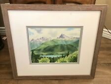 M. Hashimoto Signed Watercolor Limited Edition 10/200 Lithograph Landscape Print