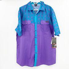 NWT Enyce Purple Cannabis Pot Leaf Graphic Button Shirt Men's 3XL