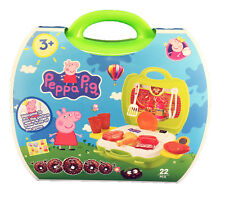Peppa Pig Kitchen Playset Accessories with Portable Carry case 16+ Pcs