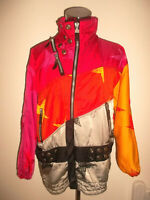 vintage italy Nylon glanz CRE-ACT Jacke by Rainer Engel shiny jacket oldschool L