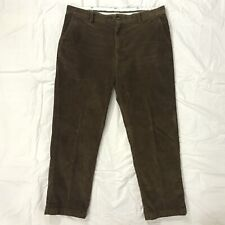 LL Bean Brown Corduroy Flat Front Classic Fit Pants Mens Size 38x30