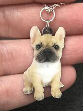 "Dog Bulldog Standing Enamel Double-sided Tibetan Silver 18"" Necklace D-1528"