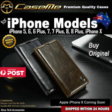 Premium Magnetic Flip Leather Wallet Cover Case for iphone X 5 6 7 8 Plus