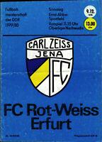 OL 79/80 Carl Zeiss Jena - Rot-Weiss Erfurt, 09.12.1979 mit Foto Ajax Amsterdam