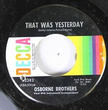 Country 45 Osborne Brothers - That Was Yesterday / Son Of A Sawmill Man On Sure