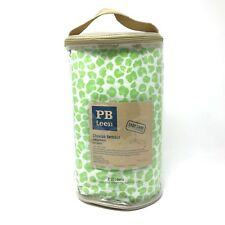 Pottery Barn Teen Green Cheetah Bedskirt 100% Cotton Bedding Fits Twin Size Bed