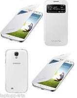 Genuine Samsung Galaxy S4 i9500 White S VIEW Window Flip Case Cover RRP £29.99