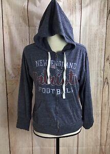 Touch By Alyssa Milano New England Patriots Hoodie Sz M Blue NFL Sweatshirt Hood