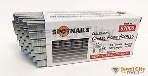 "Spotnails 87006 22 Gauge Upholstery Staples 3/8"" crown 3/8"" Length 10M C series"
