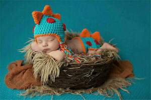 Newborn Baby Crochet Knit Costume Photography Photo Prop Hat Cap Set Outfit