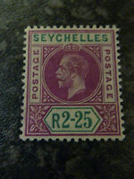 SEYCHELLES POSTAGE STAMP SG81 2R 25 DEEP MAGENTA & GREEN LIGHTLY-MOUNTED MINT