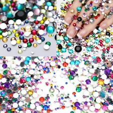 Colorful Flatback Rhinestone Crystal Strass Stone DIY Manicure 3D Nail Art Decor