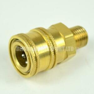 Pressure Washer Quick Release Mini 11.6mm female to 1/4 bsp male Brass Coupling