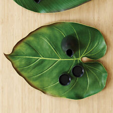 Design Ideas Bali Hai PHILODENDRON SINGLE PLACEMAT Leaf shape/green foam 6416412