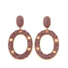 """Faceted Stone Pierced Earrings Hsn Joan Boyce Lisas """"Beyond Breathtaking"""" Rose"""