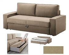 IKEA Vilasund Sofa Bed Dansbo Beige 3-Seat QUEEN Sofabed COVER Tan NEW Vilisund