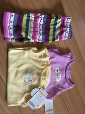 GYMBOREE SET LOT NEWBORN 0-3M PURPLE YELLOW SHEEP EASTER ONSIE X 2 AND PANTS NWT