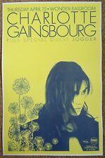 CHARLOTTE GAINSBOURG 2010 Gig POSTER Portland Oregon Concert Version 1