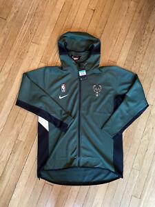 Nike NBA Milwaukee Bucks Therma Flex Authentic Showtime Hooded Jacket Men's XL