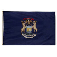2x3 State of Michigan Premium Quality Polyester Flag 2'x3' Banner Grommets