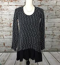 Anthropologie A'reve Lace Dot Gray Backless Tunic Sweater Size Medium