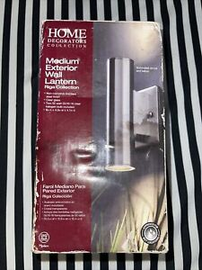 Riga Collection Lantern Light Stainless Steel Outdoor Wall Mount Exterior 302092