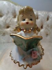 Vintage Lefton Christmas Naughy Angel figural bell EX