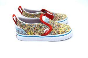 Vans X Where's Waldo? Toddler Slip-On Sneakers Find Steve Beach Toddler 8 New