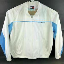 Tommy Hilfiger Mens XL White Blue Long Sleeve Full Zip...
