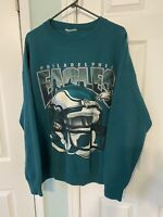 VTG NFL Philadelphia Eagles Football Green Crew Neck Sweatshirt Pullover Size 3X