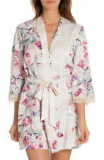 In Bloom by Jonquil Satin Wrap Robe Ivory Mauve XS/S
