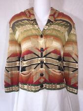 RALPH LAUREN DENIM & SUPPLY Aztec Indian Southwestern Knit Cardigan SWEATER PS S