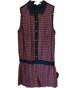 Michael Kors Women's Navy/red  Romper Shorts Sleeveless Excellent Cond. Small