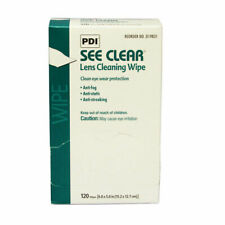 PDI SEE CLEAR EYE GLASS CLEANING WIPES 120 PER BOX - ANTI FOG 6