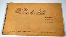 Antique Furniture Catalog Advertising Knott Carmichael Atlanta GA Beverly Hall