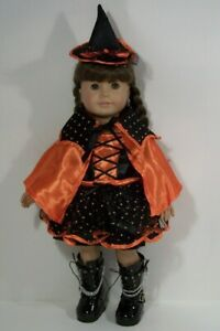 """HALLOWEEN Candy Corn Or Witch Costume Doll Clothes For 18"""" American Girl (Debs*)"""