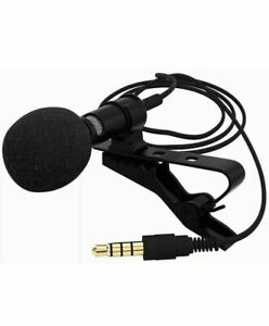Pro Lavalier Lapel Microphone Clip-on Condenser W/ Mic For iPhone /Android Phone