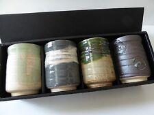 Set of 4 Yunomi Tea Sushi Cup set Porcelain ROKUBEI /Made in Japan/Gift Box