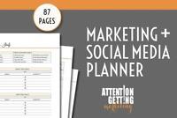 Marketing Planner Bundle Printable, Marketing & Social Media Planner & Template