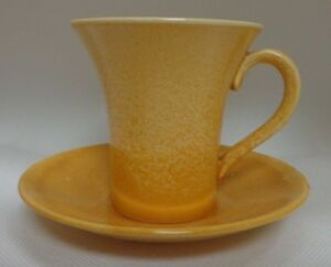 Moorcroft Vintage Yellow Lustre Tea Cup & Saucer
