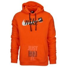 Nike JDI Club Pullover Hoodie Orange Extra Large (XL) Just Do It Vibes Off-White
