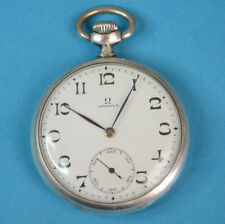 Old Omega Silver  Pocket Watch   In Very   Good Condition