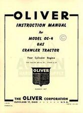 Oliver Oc 4 Oc Crawler Tractor Operators Service Manual