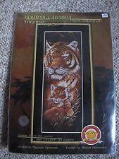 Night Savannah Tigress Cross Stitch Kit