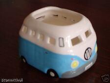VW Tea Light Candle Holder Ceramic Light Blue For Tealights - Volkswagen