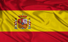 BANDERA ESPAÑOLA ESPAÑA 90X60 CM ADAPTADA PARA MASTIL CON ESCUDO PALO SPAIN