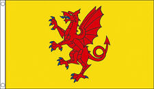 5' x 3' Somerset Flag Yellow Background England English County Flags Banner