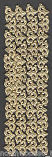 GERMAN DRESDEN ORNATE FOIL BORDER  PAPER FLEUR ORNAMENT  GOLD CORNERS SCROLL