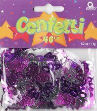 8 Pack cuadragésimo aniversario de confeti / Cuadro De Zarzamora Color Rosa Mesa Decoraciones